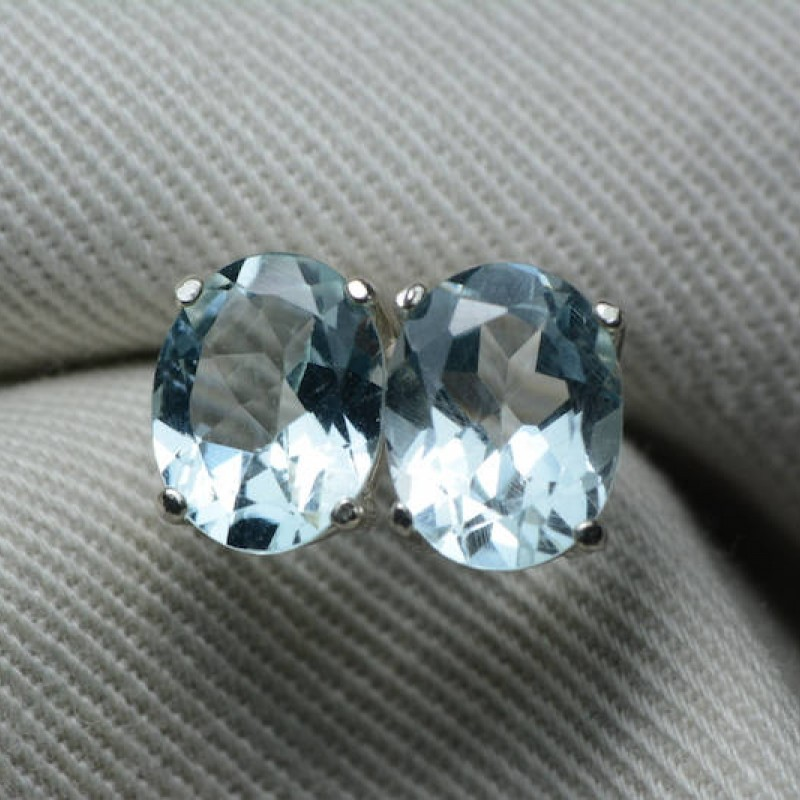 77a50ef3e8a8c Aquamarine Earrings, 3.00 Carats Appraised At 450.00, Sterling ...