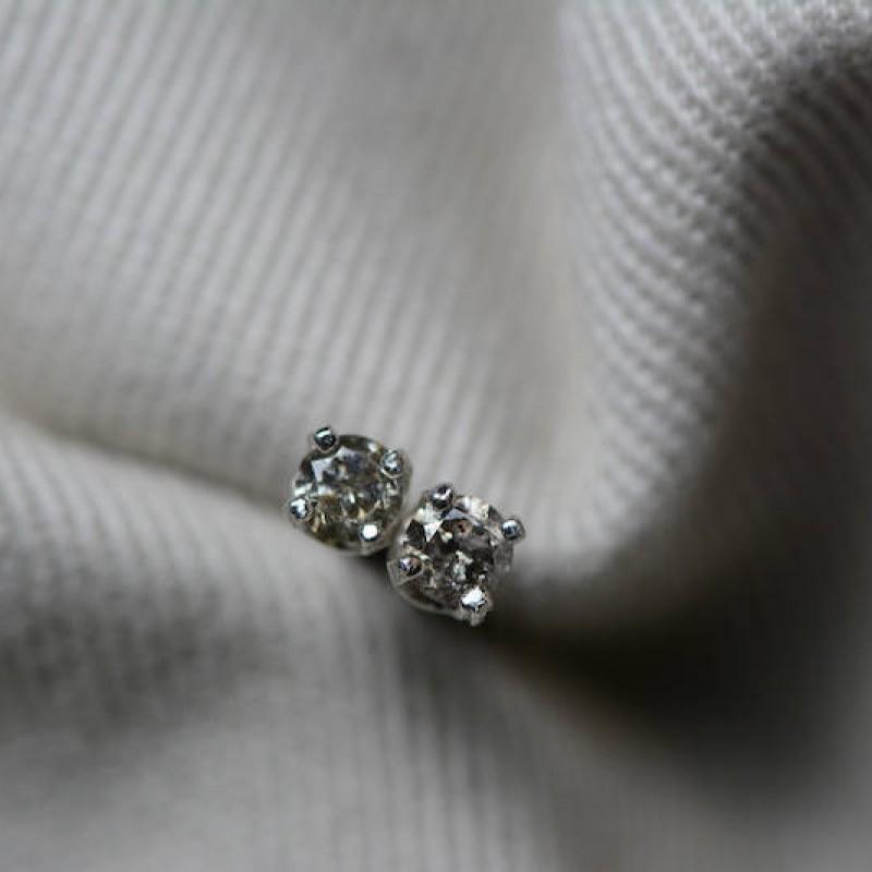 champagne diamond stud earrings carats sterling. Black Bedroom Furniture Sets. Home Design Ideas