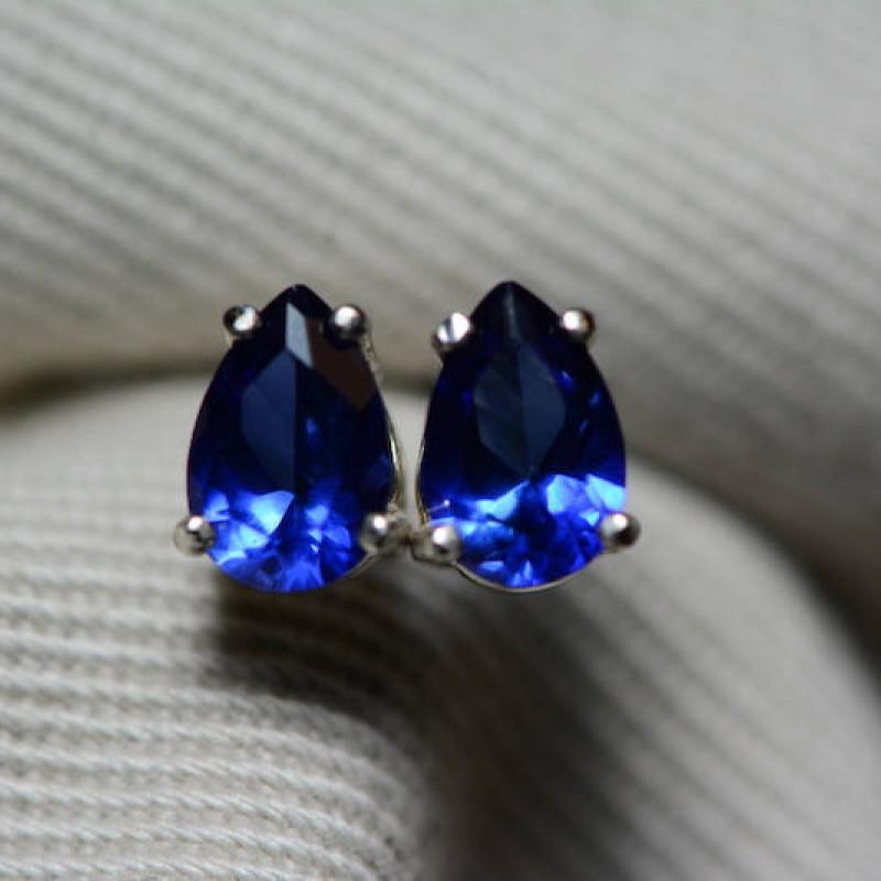 sapphire earrings blue sapphire stud earrings carat. Black Bedroom Furniture Sets. Home Design Ideas