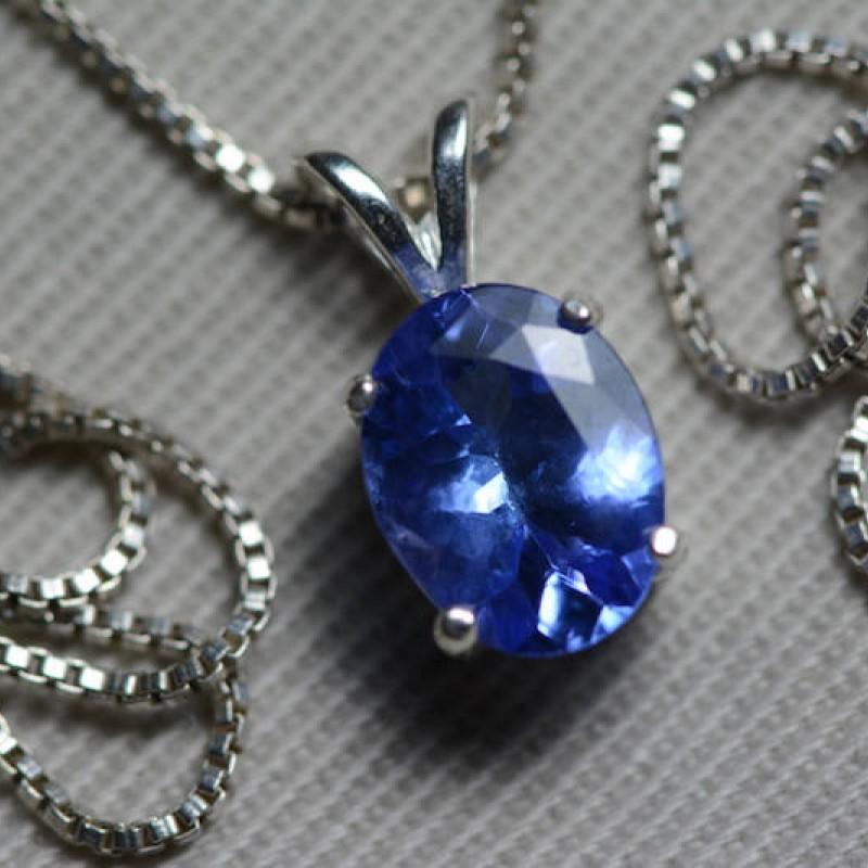 Museum Tanzanite: Tanzanite Necklace, IGI Certified 1.66 Carat Genuine