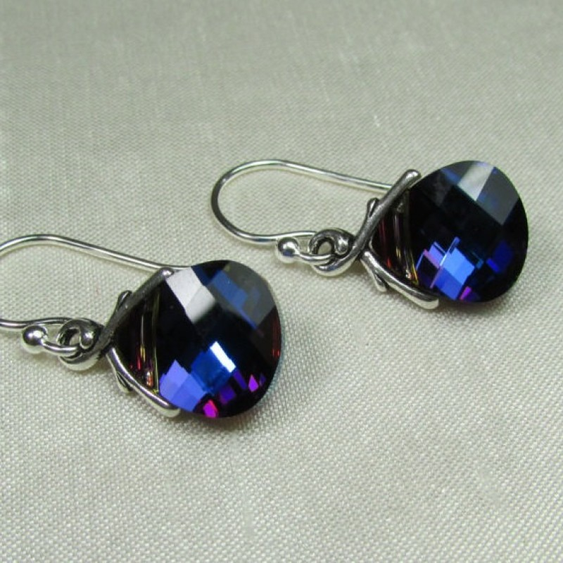 Bridesmaid Earrings Bridesmaid Jewelry Swarovski Crystal Bridal