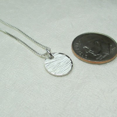 22246a37f16cae Bridesmaid Gift Sterling Silver Circle Necklace Hammered Disc Necklace  Bridesmaid Necklace Layered Necklace Bridesmaid Jewelry Dot Necklace