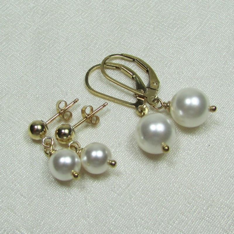 Gold Pearl Earrings Bridesmaid Jewelry Gold Bridesmaid Earrings