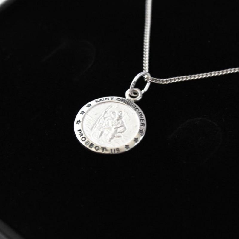 e5d00a38a53aa Boy s 925 Sterling Silver Saint Christopher
