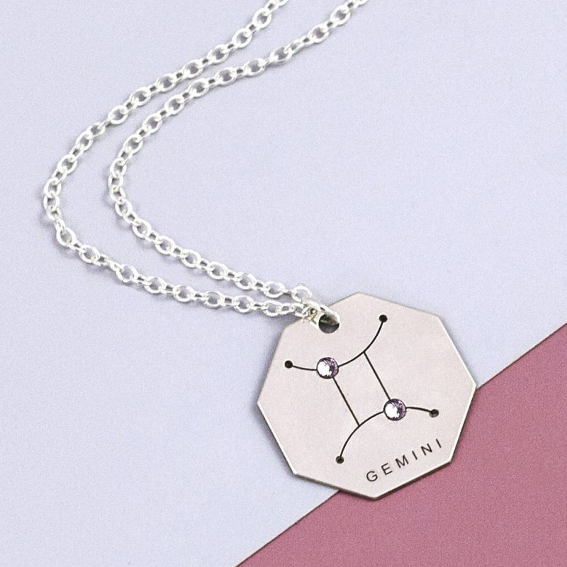 Gemini Zodiac Symbol Necklace