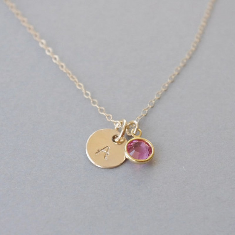 97ec2167d4d43 Girl Initial Necklace, Little Girl Necklace, Personalized Necklace ...