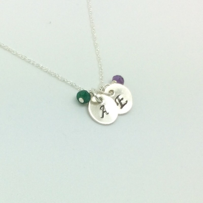 Birthstone Necklace for Mom Initial Necklace Personalized Infinity Necklace Sterling Silver Mothers Necklace Personalized Necklace for Mom