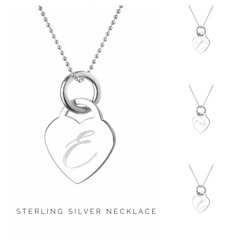 personalised necklace name necklace sterling silver necklace