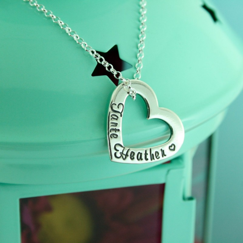 31df8838e Personalised Necklace | Sterling Silver Heart Washer | Gift For Mum | Childrens  Names | Sister/Auntie/Friend | Christmas Gift Idea | UK