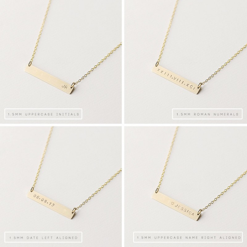 b825230d1a8ac Personalised necklace set - Dare to Dream Big - gold bar necklace ...
