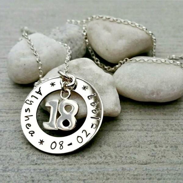 Birthday Keepsake Necklace, 18th Birthday, 21st Birthday