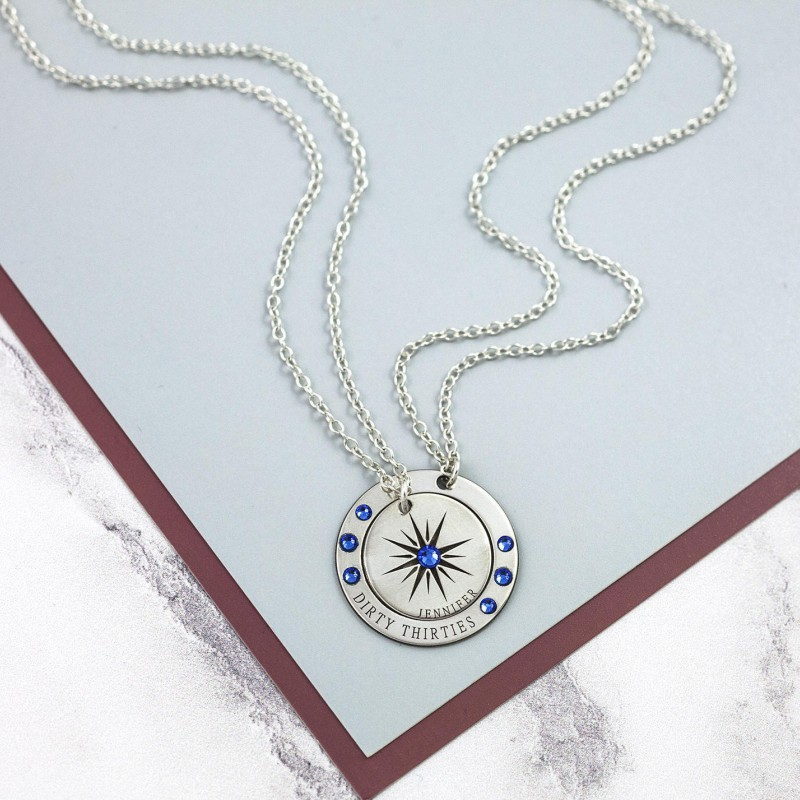 18th Birthday Necklace Sterling Silver Custom Birthstone: Custom Name Necklace