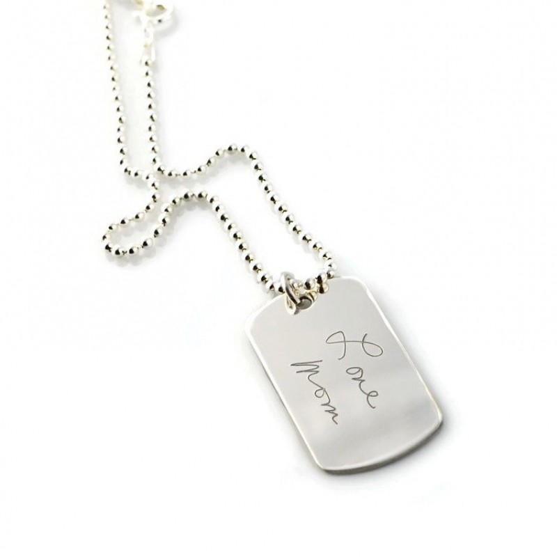 Actual Handwriting Jewelry Sterling