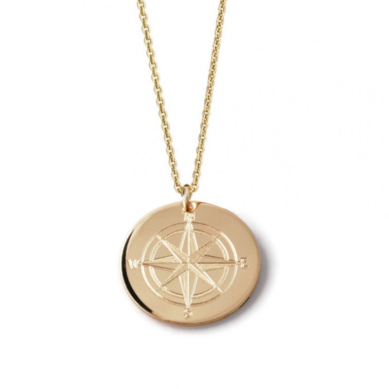 4c3e0ae19 Compass Rose custom engraved layering pendant necklace • 14k yellow, rose  gold fill or sterling silver ...