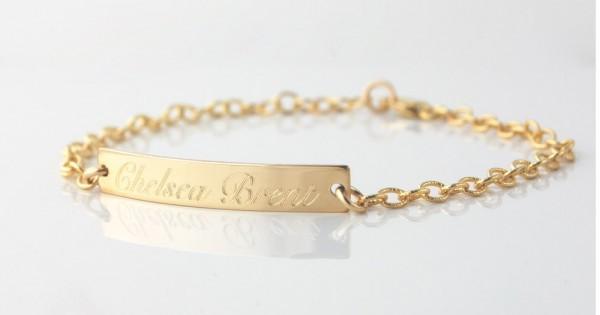 Nameplate Id Bracelet Custom Engraved
