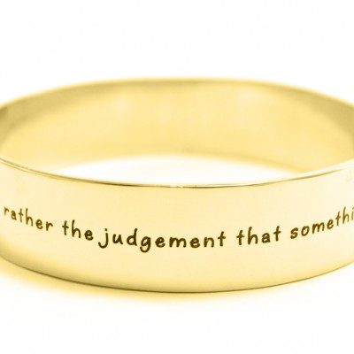 Personalised 15mm Wide Endless Bangle - 18ct Gold Plated - All Birthstone™