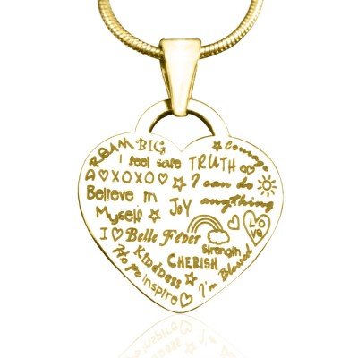 Personalised Heart of Hope Necklace - 18ct Gold Plated - All Birthstone™