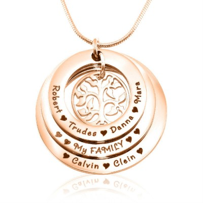 Personalised Family Triple Love - 18ct Rose Gold Plated - All Birthstone™