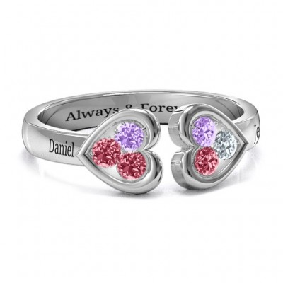 Heart To Heart Wraparound Ring - All Birthstone™