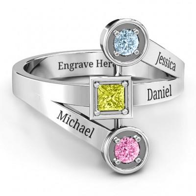 Modern Birthstone Ring  - All Birthstone™