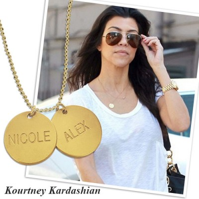 18ct Gold Plated Silver Disc Pendant Necklace - All Birthstone™