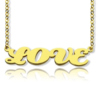 Solid Gold 18ct Capital Puff Font Name Necklace - All Birthstone™