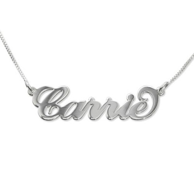 Small Name Necklace In Carrie Style - All Birthstone™