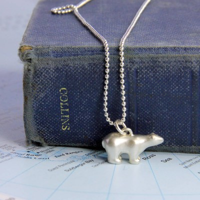 Polar Bear Necklace - All Birthstone™