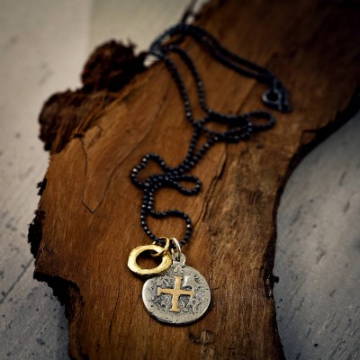Mens Pieces Of Eight Pirate Necklace - All Birthstone™